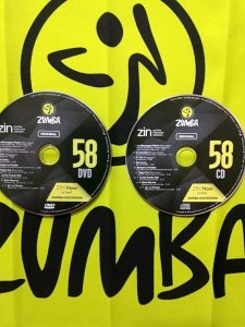[Hot Sale]2018 New dance courses ZIN ZUMBA 58 HD DVD+CD