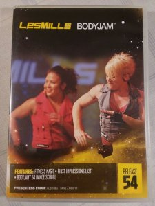 LES MILLS BODY JAM 54, COMPLETE w/ DVD, CD & BOOKLET. FREE SHIPP