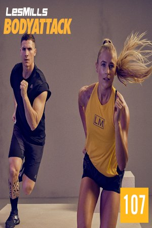 LesMills BODY ATTACK 107 New Release 107 DVD, CD & Notes
