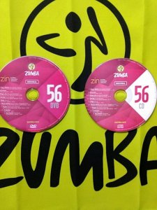 [Hot Sale]2018 New dance courses ZIN ZUMBA 56 HD DVD+CD