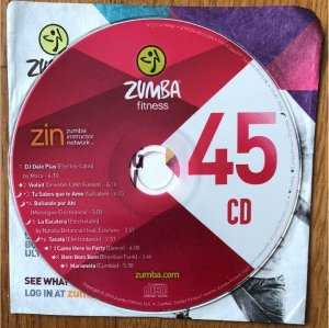 [Hot Sale]2018 New dance courses ZIN ZUMBA 45 HD DVD+CD