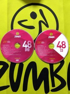[Hot Sale]2018 New dance courses ZIN ZUMBA 48 HD DVD+CD