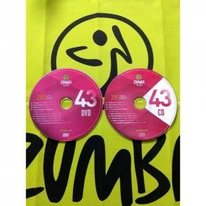 [Hot Sale]2018 New dance courses ZIN ZUMBA 43 HD DVD+CD