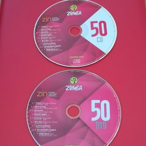 [Hot Sale]2018 New dance courses ZIN ZUMBA 50 HD DVD+CD