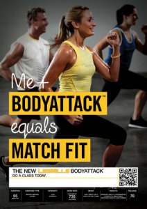 LESMILL BODY ATTACK 76 VIDEO+MUSIC+NOTES