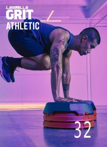Les Mills GRIT ATHLETIC 32 New Release AT32 DVD, CD & Notes