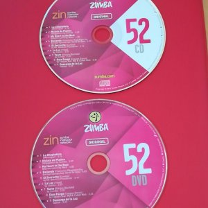 [Hot Sale]2018 New dance courses ZIN ZUMBA 52 HD DVD+CD
