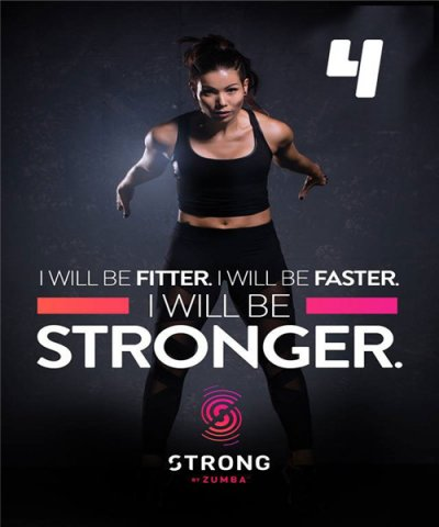 [Hot Sale] 2018 New Course Strong By Zumba Vol.04 HD DVD+CD
