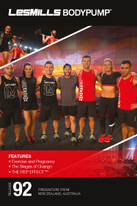 Les Mills Bodypump 92 DVD, CD, Notes Body Pump
